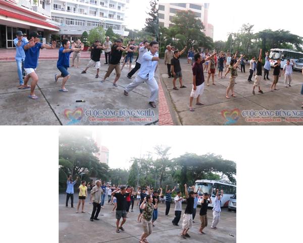 tap theduc Chương Trình TeamBuilding Sơn Tùng Coffee