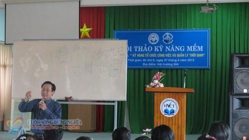 IMG 5824 Đào tạo Kỹ năng Tổ Chức Công Việc và Quản Lý Thời Gian tại Trường CĐ Nghề TP.HCM