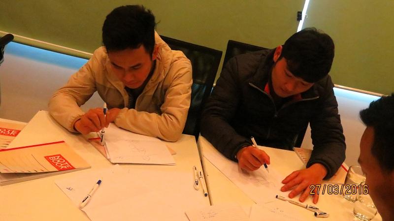 dao tao ky nang giao tiep qua dien thoai cho NamViet 5 Đào Tạo Kỹ Năng giao Tiếp Qua Điện Thoại cho Công ty Nam Việt