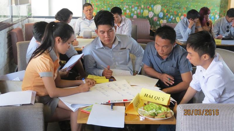 dao tao cong ty vinh phat nha trang 4 Đào tạo kỹ năng Phát Huy Tiềm Năng   Gắn Kết Đội Ngũ cho Công Ty Vĩnh Phát