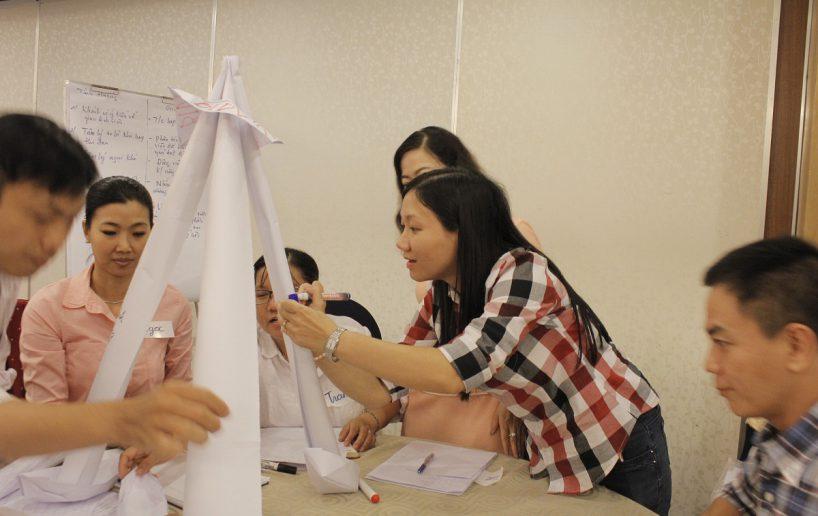 bidv02 44 818x516 Đào tạo cho BIDV Hồ Chí Minh: Kỹ năng truyền lửa và tạo động lực cho nhân viên
