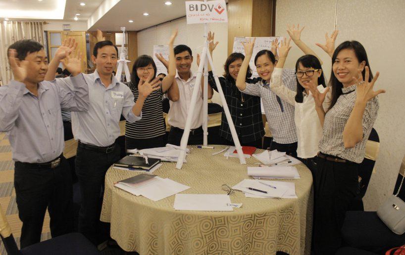 bidv02 57 818x516 Đào tạo cho BIDV Hồ Chí Minh: Kỹ năng truyền lửa và tạo động lực cho nhân viên