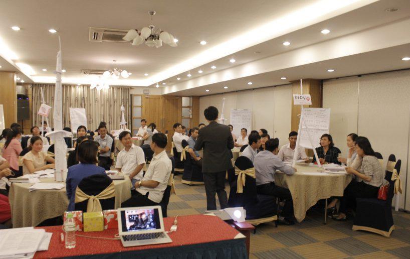 bidv02 58 818x516 Đào tạo cho BIDV Hồ Chí Minh: Kỹ năng truyền lửa và tạo động lực cho nhân viên