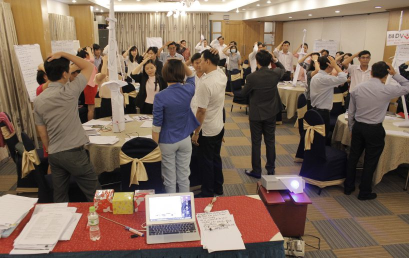 bidv02 59 818x516 Đào tạo cho BIDV Hồ Chí Minh: Kỹ năng truyền lửa và tạo động lực cho nhân viên
