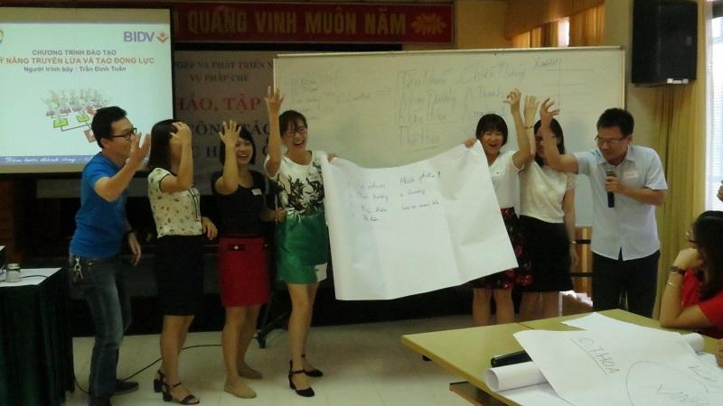dao tao ngan hang bidv 2 Đào Tạo Inhouse: Kỹ Năng Tạo Động Lực Và Truyền Lửa Ngân Hàng BIDV