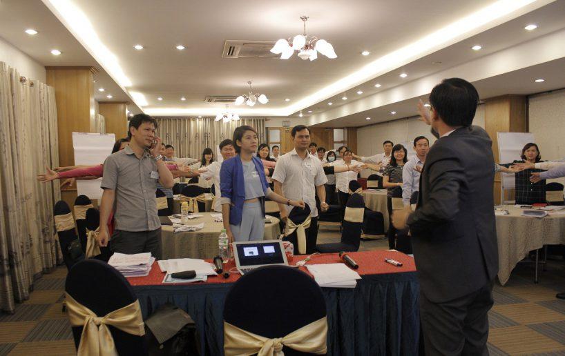 hin anh bidv hoat nao 3 818x516 Đào tạo cho BIDV Hồ Chí Minh: Kỹ năng truyền lửa và tạo động lực cho nhân viên