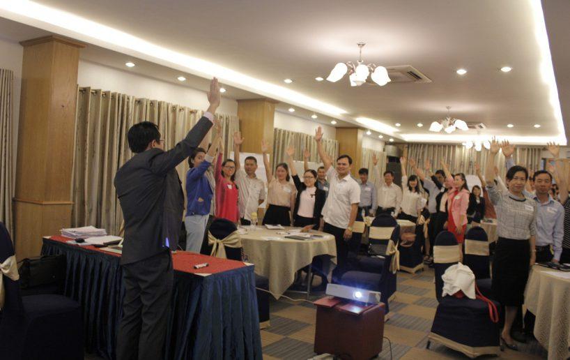hin anh bidv hoat nao 8 818x516 Đào tạo cho BIDV Hồ Chí Minh: Kỹ năng truyền lửa và tạo động lực cho nhân viên