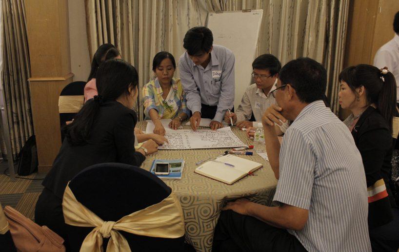 hinh anh bidv lam viec nhom 6 818x516 Đào tạo cho BIDV Hồ Chí Minh: Kỹ năng truyền lửa và tạo động lực cho nhân viên