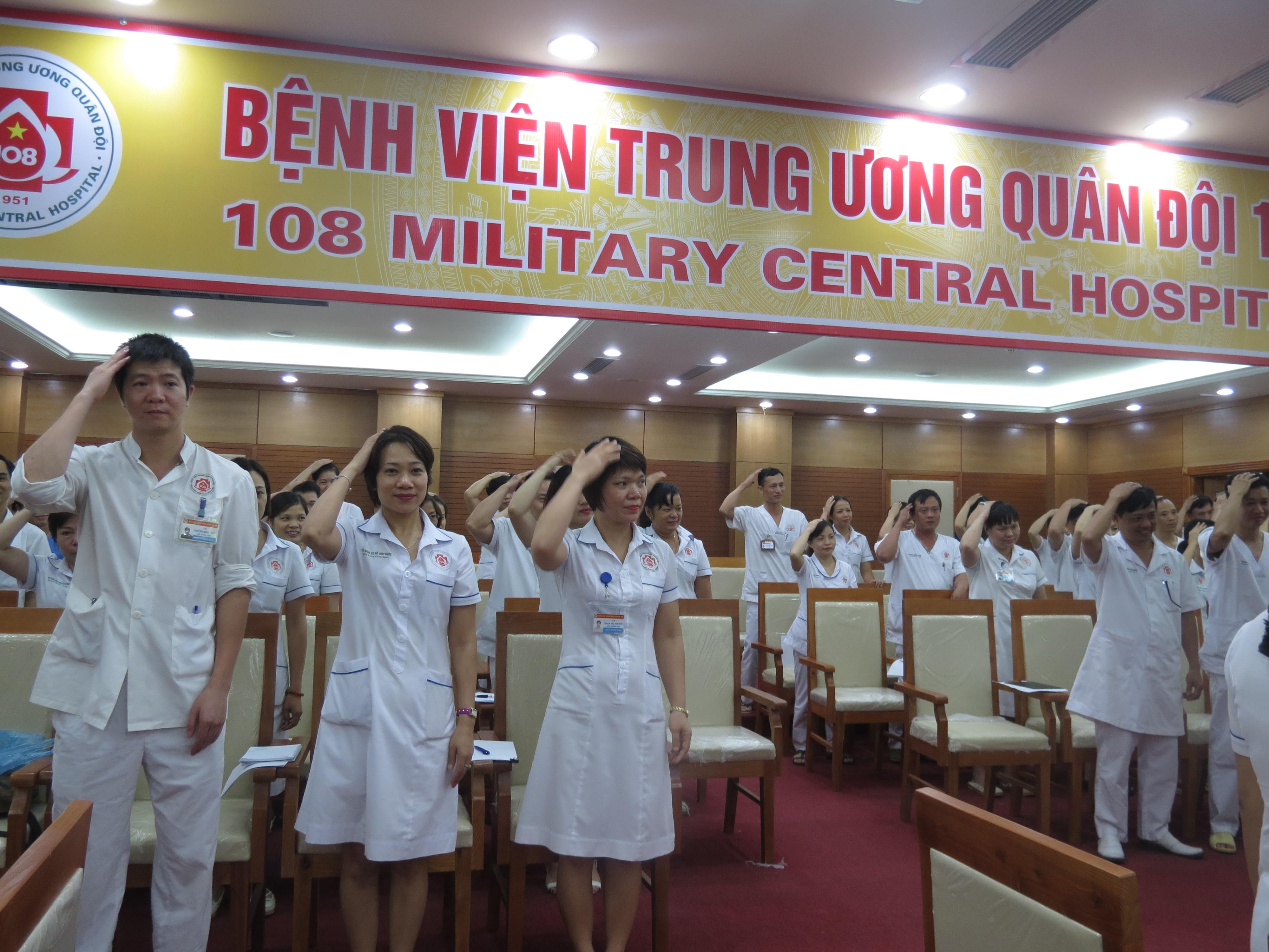 """Chương trình đào tạo """"Kỹ Năng Giao Tiếp Và Xử Lý Tình Huống"""" lần thứ 7 cho Bệnh Viên Trung Ương Quân Đội 108"""