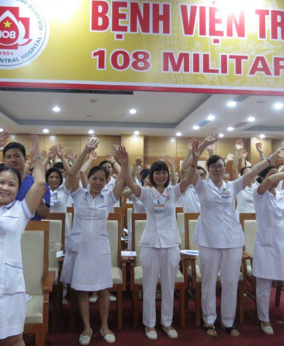 """Chương trình đào tạo """"Kỹ Năng Giao Tiếp Và Xử Lý Tình Huống"""" lần thứ 5 cho Bệnh Viên Trung Ương Quân Đội 108"""