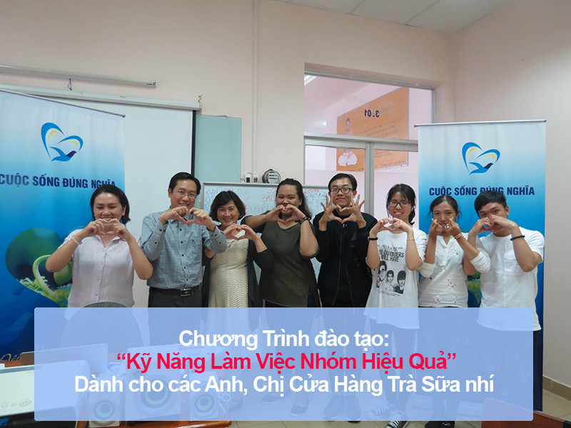 Chương trình đào tạo cho Cửa Hàng Trà Sữa Nhí