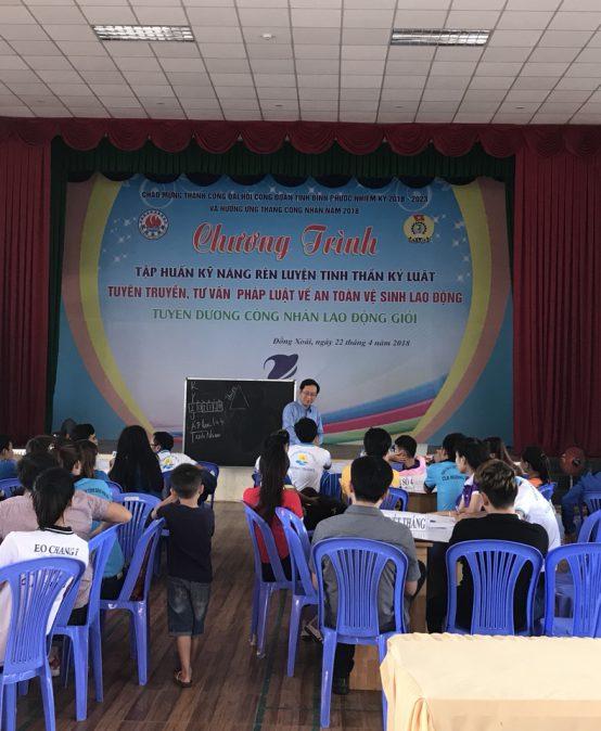 Chương trình đào tạo Kỹ Năng Rèn Luyện Tinh Thần Kỷ Luật – Trung Tâm Hỗ Trợ Thanh Niên Công Nhân Tỉnh Bình Phước