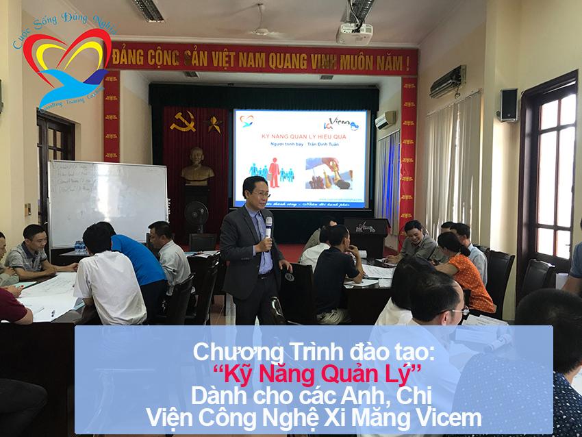 Chương trình đào tạo cho Viện Công Nghệ Xi Măng Vicem – Lần 1