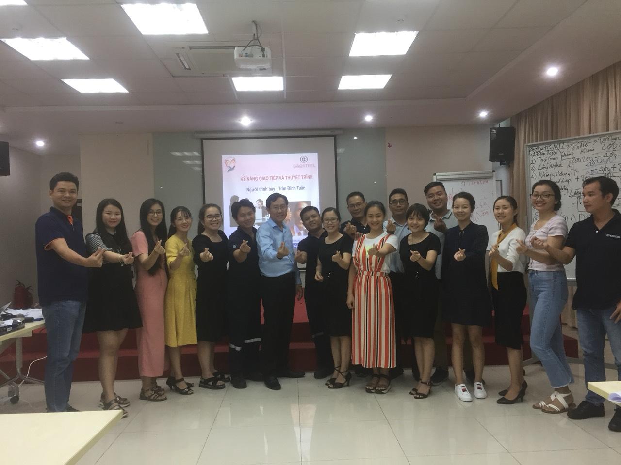 Chương Trình đào Tạo kỹ năng Thuyết Trình Thuyết Phục cho Công Ty TNHH Baosteel Can Making (Việt Nam)